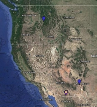 Rufous Hummingbird Location Map