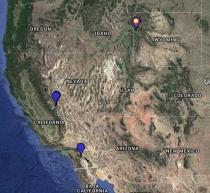 Williamson's Sapsucker Location Map