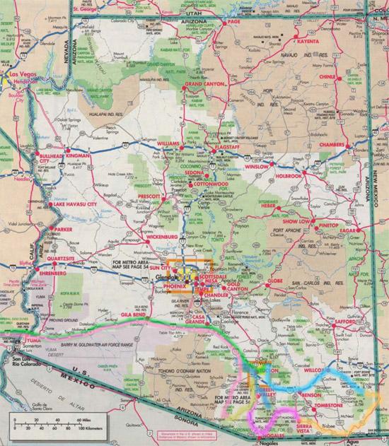 Trip Map, October 2015.