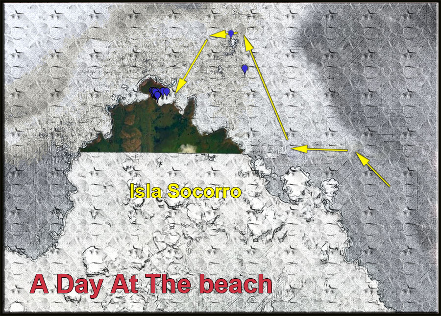 Map of Isla Socorro, A Day At The Beach