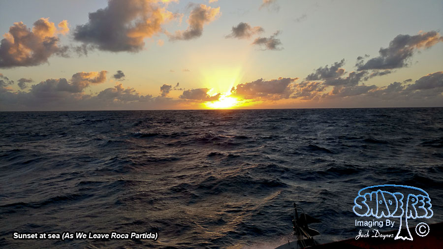Sunset at sea - As We Leave Roca Partida