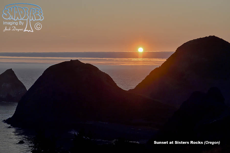 Sunset at Sisters Rocks - Scenery