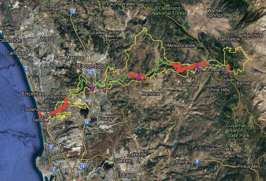 Map of the SDRP Coast To Crest Trail System - Map