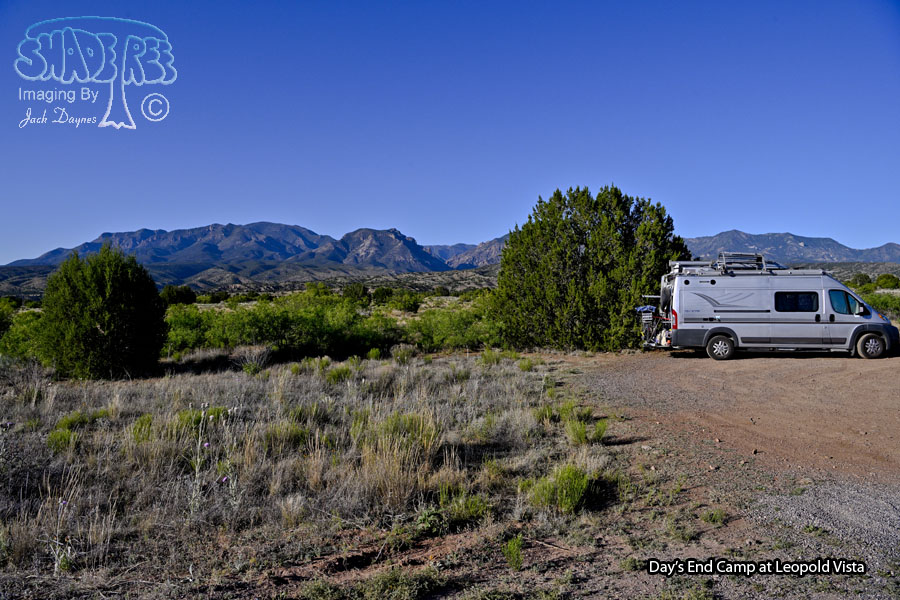 Camped by the Gila Mountains - Scenery