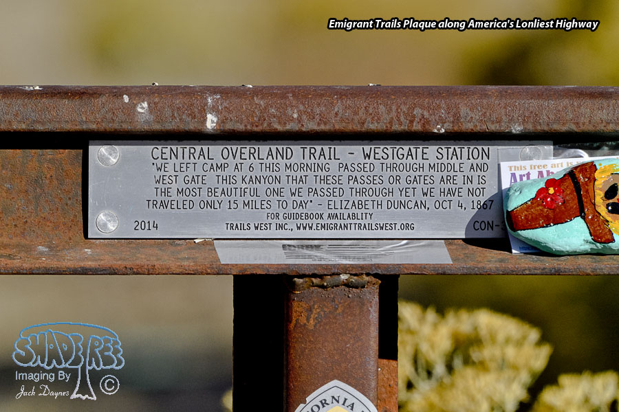 Emigrant Trails Plaque - Scenery