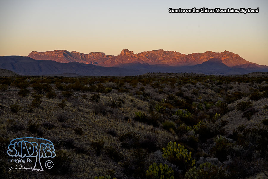 Sunrise on the Chisos Mountains - Scenery