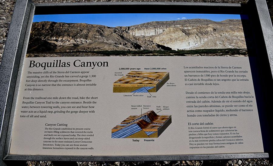 Boquillas Canyon Exhibit - Scenery