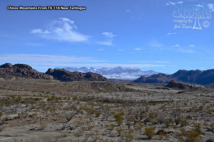 Chisos Mountains From TX-118 Near Terlingua - Scenery