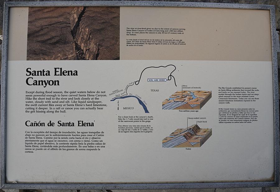 Santa Elena Canyon Informational Signs - Scenery
