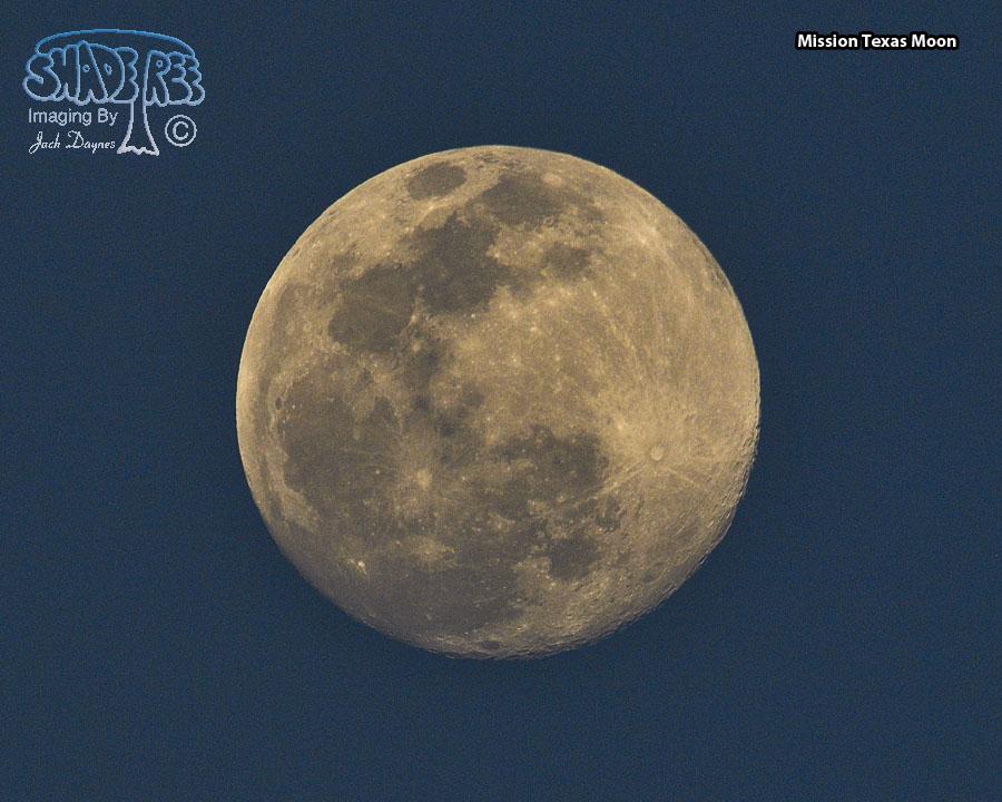 Texas Full Moon - Scenery